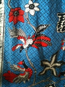 Close up of fabric from muumuu